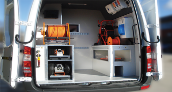 Mini-Cam Typical Regular Van Fit-out